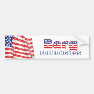 Iceberg para la bandera americana patriótica del c pegatina de parachoque