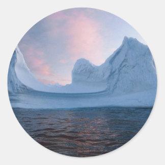 Iceberg Pegatina Redonda