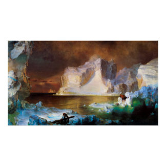Iceberg por la iglesia de Federico Edwin Poster