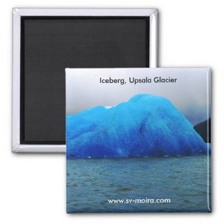 Iceberg, Upsala Glacier, Lago Argentina 2 Inch Square Magnet