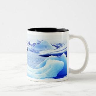 Icebergs at Jokulsarlon Lagoon Two-Tone Coffee Mug