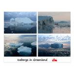Icebergs en Groenlandia Tarjeta Postal