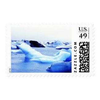 Icebergs en la laguna de Jokulsarlon Sellos