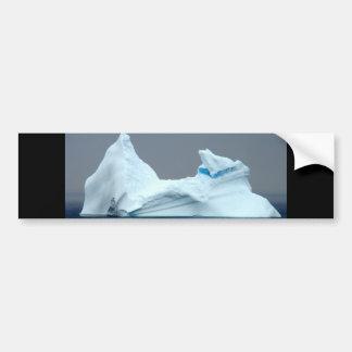 Icebergs en Terranova Etiqueta De Parachoque