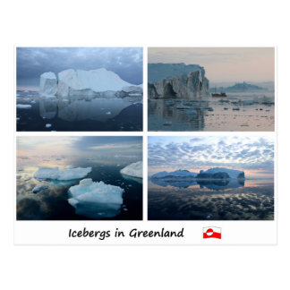 Icebergs in Greenland 3 Postcard