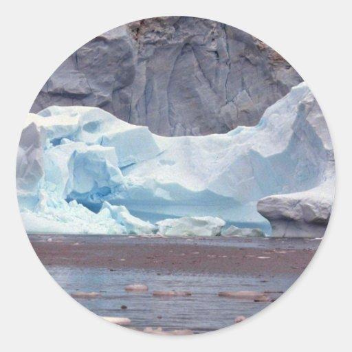 Icebergs, la Antártida Pegatinas Redondas