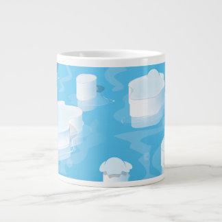 Icebergs Large Coffee Mug