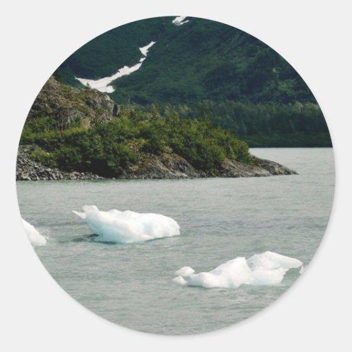 Icebergs Pegatinas Redondas