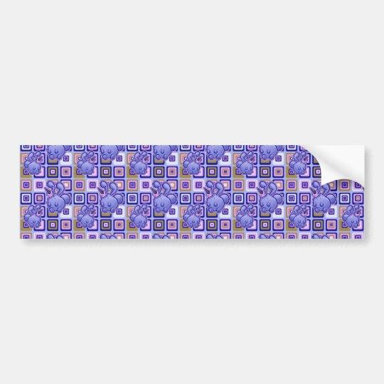 Icecream Bunny Pattern Bumper Sticker