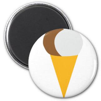 Icecream cone chocolate vanilla magnet