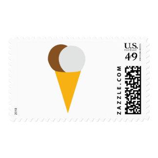 Icecream cone chocolate vanilla postage