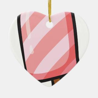 icecream Double-Sided heart ceramic christmas ornament