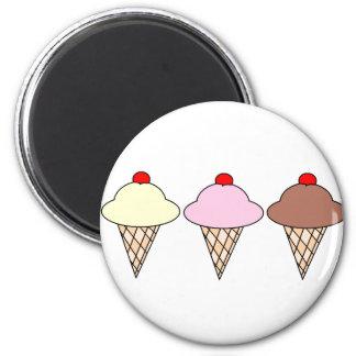 Icecream 2 Inch Round Magnet