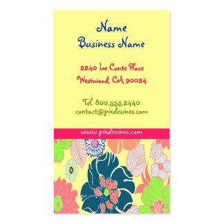 Icecream poppies retro florals profile cards