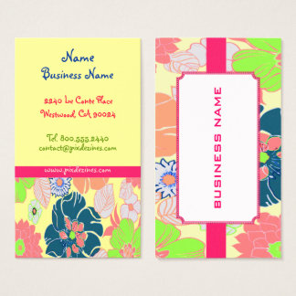 Icecream poppies retro florals profile cards