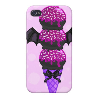 ICECREAM: (Purple Bat Version) iPhone 4/4S Cases