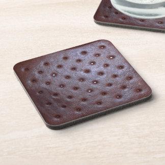 Icecream Sandwich Texture Cork Coaster