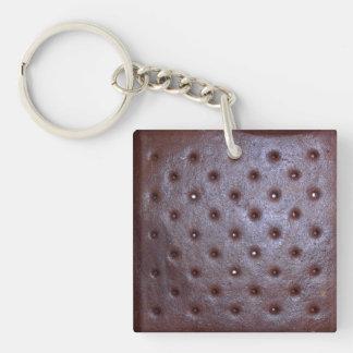 Icecream Sandwich Texture Key Chain