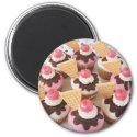 icecream sundae cupcakes magnet