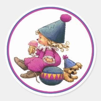 IceCream Toddler Classic Round Sticker