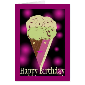 Icecreamdesign, feliz cumpleaños tarjeta de felicitación