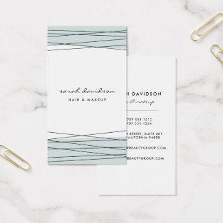 Iced Aqua | Modern Geometric Vertical Business Card