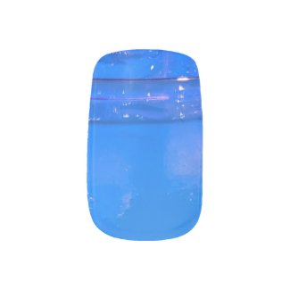 iced blue drink minx nail art