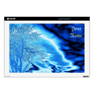 "Iced Blue Sky Decals For 17"" Laptops"