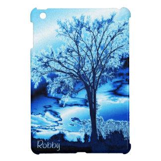 Iced Blue Tree iPad Mini Case *Personalize*