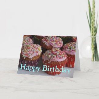 Iced cakes Happy Birthday Card card