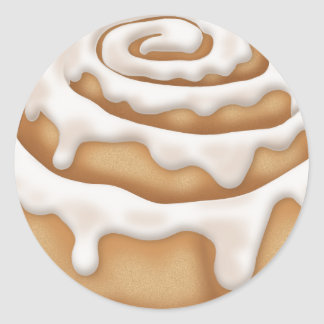 Iced Cinnamon Bun Bakery Sticker