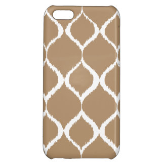 Iced Coffee Geometric Ikat Tribal Print Pattern Cover For iPhone 5C