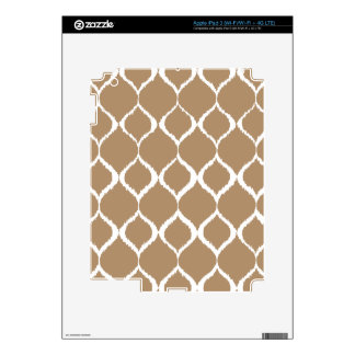 Iced Coffee Geometric Ikat Tribal Print Pattern Decal For iPad 3