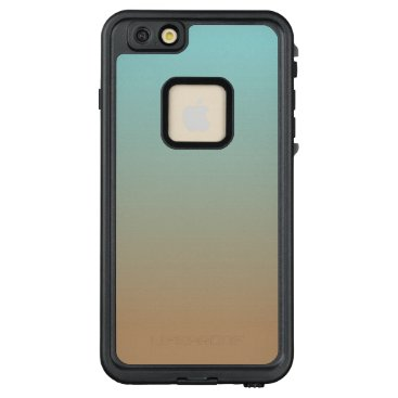 Coffee Themed Iced Coffee Limpet Shell Aqua Sea Blue and Brown LifeProof FRĒ iPhone 6/6s Plus Case