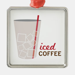 Iced Coffee Metal Ornament