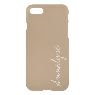 Iced Coffee Neutral Brown Tan Solid Color Custom iPhone 8/7 Case