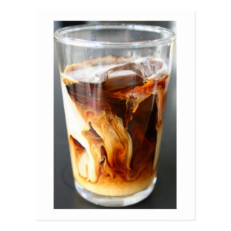 iced coffee - postcard