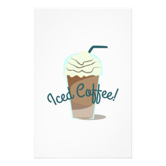Iced Coffee Stationery Design