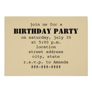 Iced Coffee To Go Birthday Party Custom Invitations