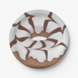 Iced Donut sweet treat paper plate 7 Inch Paper Plate