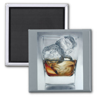 Iced Drink 2 Inch Square Magnet