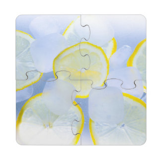 Iced Lemon Puzzle Coaster