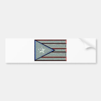 Iced Out Puerto Rican Flag Car Bumper Sticker