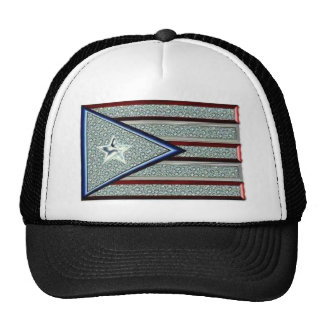 Iced Out Puerto Rican Flag Mesh Hat
