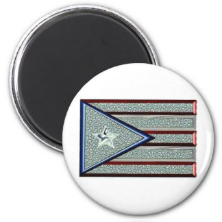 Iced Out Puerto Rican Flag Magnet