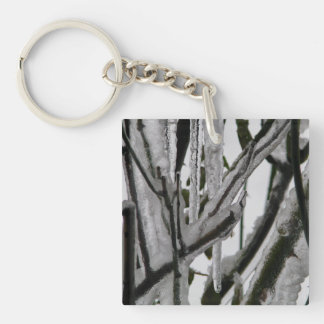 Iced Rose Branches Keychain