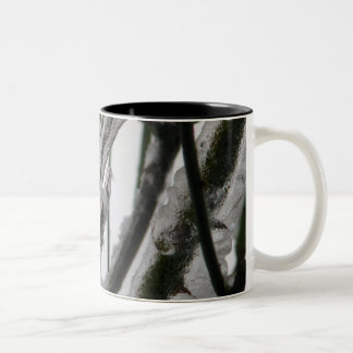 Iced Rose Branches Two-Tone Coffee Mug