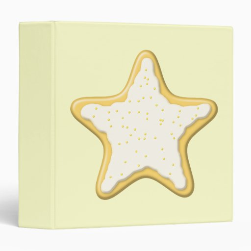 Iced Star Cookie. Yellow and Cream. Binders