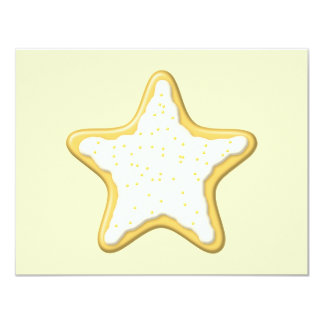 Iced Star Cookie. Yellow and Cream. Card