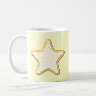 Iced Star Cookie. Yellow and Cream. Mug